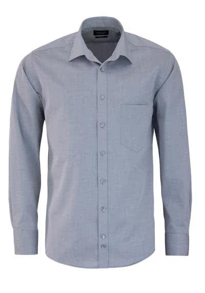 HATICO Regular Fit Hemd Langarm mit Brusttasche grau - Hemden Meister
