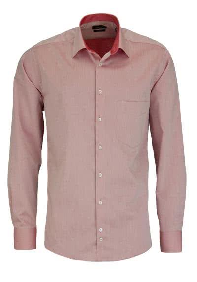 HATICO Regular Fit Hemd Langarm mit Brusttasche rot - Hemden Meister