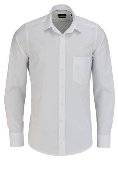 HATICO Modern Fit Hemd Langarm mit Brusttasche weiß - Hemden Meister