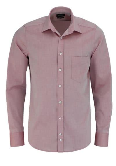 HATICO Modern Fit Hemd Langarm mit Brusttasche rot - Hemden Meister
