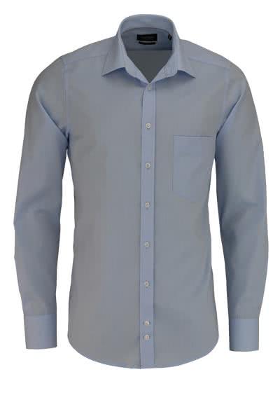 HATICO Modern Fit Hemd Langarm mit Brusttasche blau - Hemden Meister