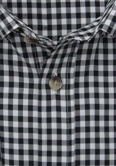 HATICO Regular Fit Hemd Langarm Button Down Kragen Karo schwarz
