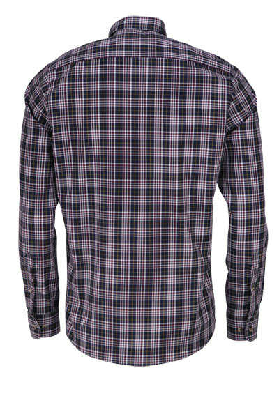 HATICO Modern Fit Hemd Langarm Button Down Kragen Karo anthrazit