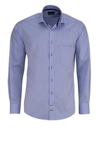 HATICO Regular Fit Hemd Langarm Haifischkragen mit Besatz hellblau - Hemden Meister