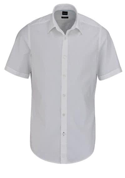 BOSS BUSINESS Regular Fit Hemd LUKA Kurzarm weiß - Hemden Meister