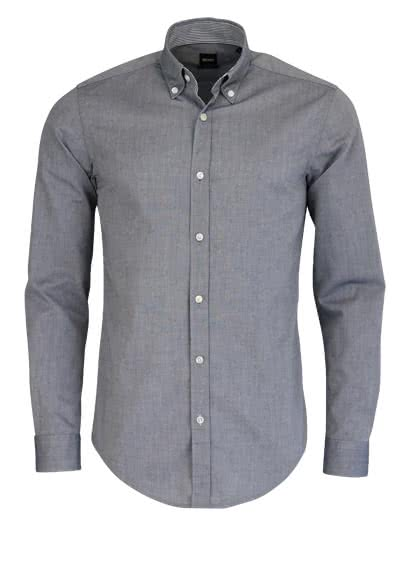 BOSS BUSINESS Slim Hemd ROD Langarm Button Down Kragen dunkelblau - Hemden Meister