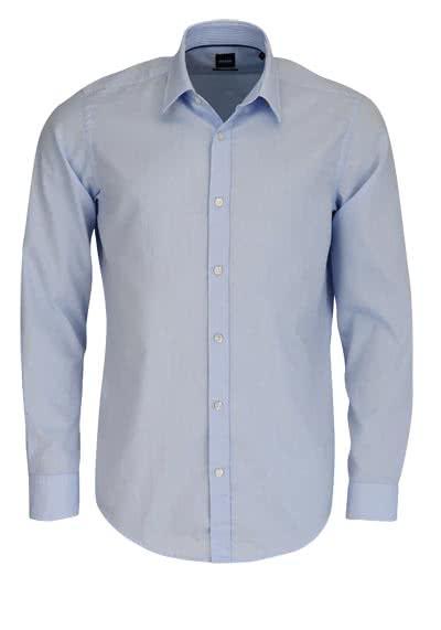 BOSS BUSINESS Regular Fit Hemd Langarm LUKAS_51 Feinoxford hellblau - Hemden Meister