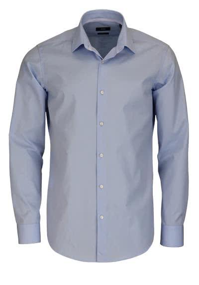 BOSS Regular Fit Hemd Langarm GELSON Popeline hellblau - Hemden Meister