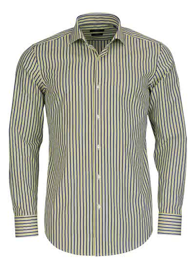 BOSS BUSINESS Slim Hemd extra langer Arm JASON Streifen sonnengelb - Hemden Meister