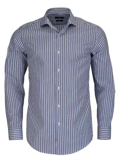 BOSS BUSINESS Slim Hemd extra langer Arm JASON Streifen dunkelblau - Hemden Meister