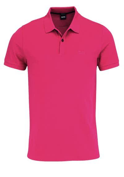BOSS Poloshirt PALLAS Halbarm geknöpfter Pique hibiskus - Hemden Meister