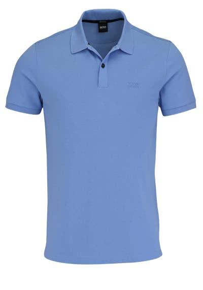 BOSS BUSINESS Poloshirt PALLAS Halbarm geknöpfter Pique hellblau - Hemden Meister