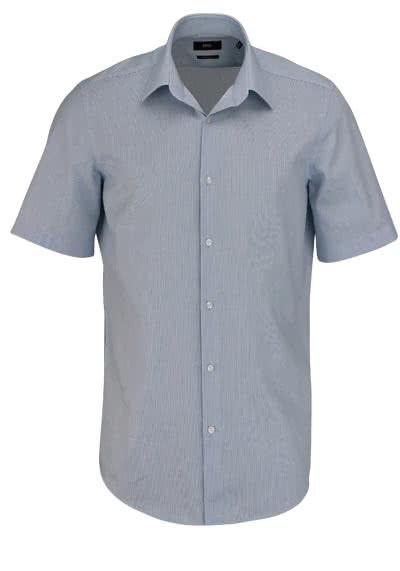 BOSS BUSINESS Regular Fit Hemd Kurzarm CINZIO Streifen dunkelblau - Hemden Meister