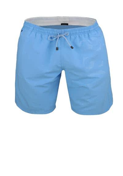 BOSS Herren Badeshorts mit Logowebung hellblau - Hemden Meister