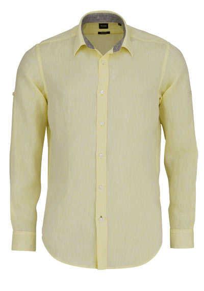 BOSS Regular Fit Hemd LUKAS_53 Langarm geknöpft pastellgelb - Hemden Meister