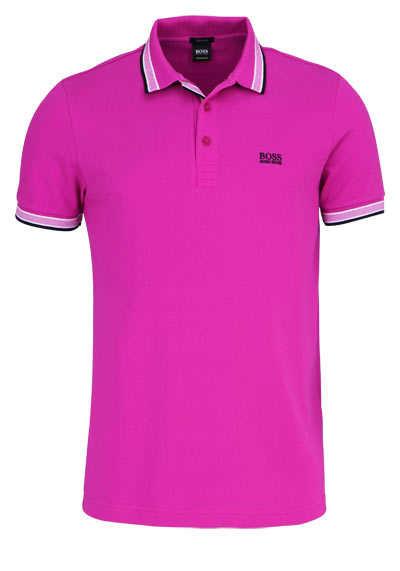 BOSS Halbarm Poloshirt PADDY Polokragen geknöpft Pique hibiskus - Hemden Meister