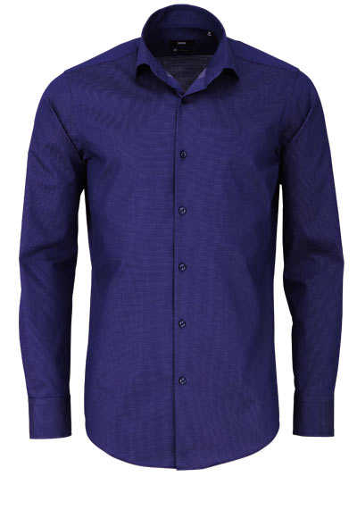 BOSS Regular Fit Hemd GORDON extra langer Arm geknöpft navy - Hemden Meister