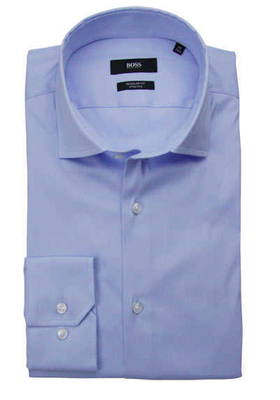 BOSS Regular Fit Hemd GORDON extra langer Arm hellblau