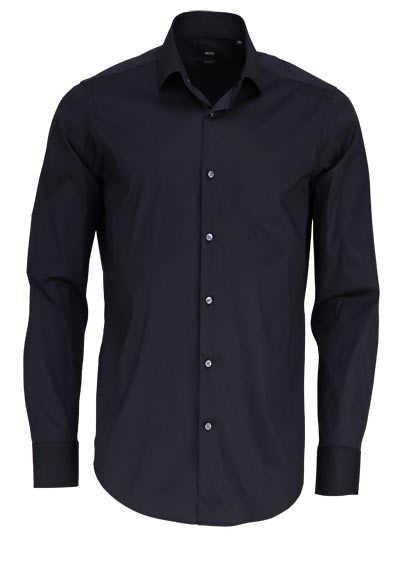 BOSS Regular Fit Hemd GORDON Langarm schwarz - Hemden Meister