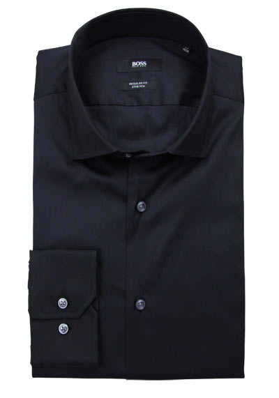 BOSS BUSINESS Regular Fit Hemd GORDON extra langer Arm schwarz preisreduziert