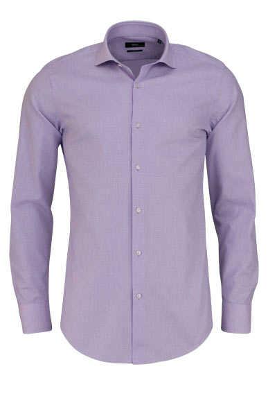 BOSS Slim Fit Hemd GORDON Langarm Karo rosa - Hemden Meister