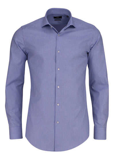 BOSS Slim Fit Hemd GORDON extra langer Arm Karo blau - Hemden Meister