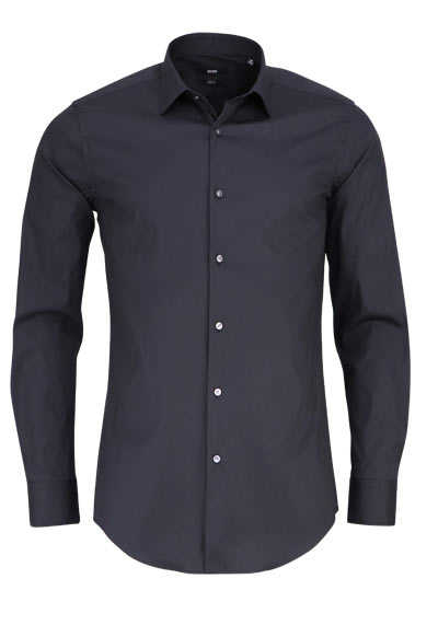 BOSS BUSINESS Slim Fit Hemd JENNO Langarm Stretch schwarz - Hemden Meister