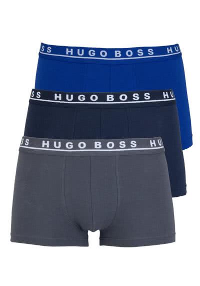 BOSS Boxershorts 3er Pack mittelblau/dunkelblau/grau - Hemden Meister