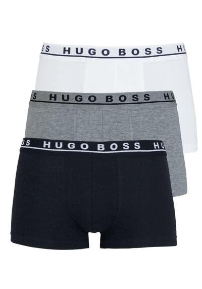 BOSS Boxershorts Logoschriftzug 3er Pack weiß/grau/schwarz - Hemden Meister