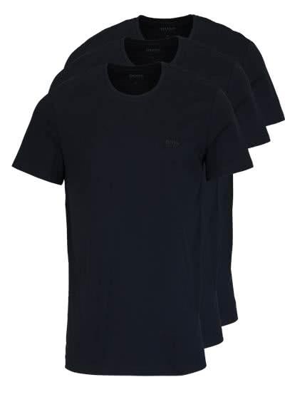 BOSS Regular Fit Kurzarm T-Shirt Rundhals 3er Pack schwarz - Hemden Meister