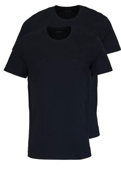 BOSS Halbarm T-Shirt Rundhals Pure Cotton Doppelpack schwarz - Hemden Meister