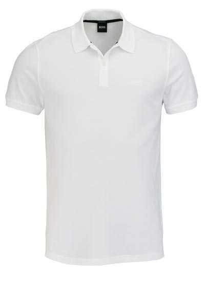 BOSS Poloshirt PALLAS Halbarm geknöpfter Pique weiß - Hemden Meister