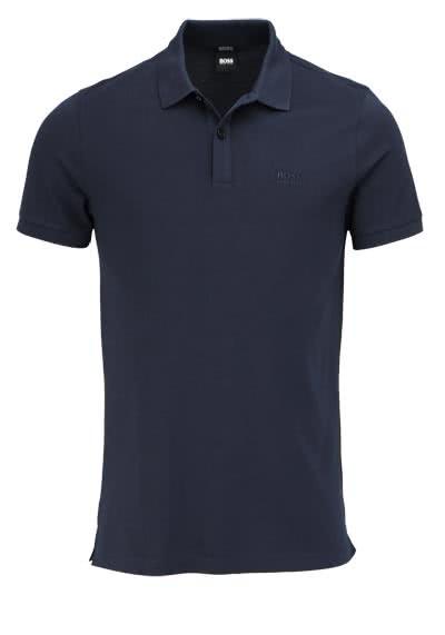 BOSS Poloshirt PALLAS Halbarm geknöpfter Pique navy - Hemden Meister