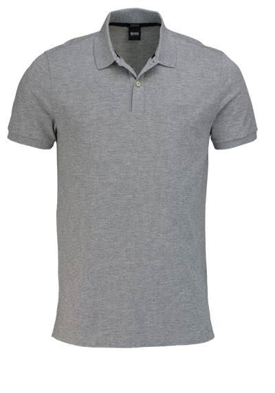 BOSS Poloshirt PALLAS Halbarm geknöpfter Pique hellgrau - Hemden Meister