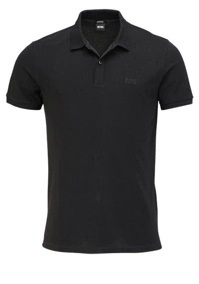 BOSS Poloshirt PALLAS Halbarm geknöpfter Pique schwarz - Hemden Meister