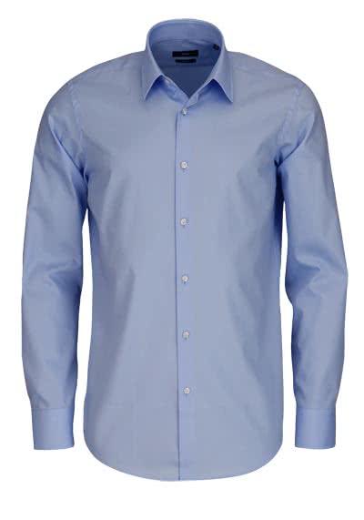 BOSS BUSINESS Regular Fit Hemd Langarm ENZO Popeline hellblau - Hemden Meister