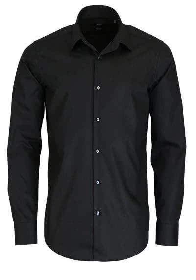 BOSS BUSINESS Regular Fit Hemd Langarm ENZO Popeline schwarz - Hemden Meister