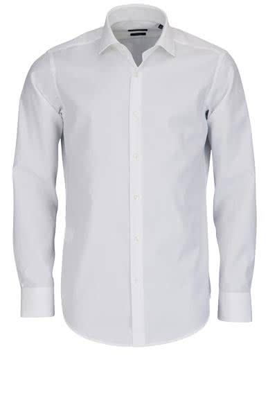 BOSS BUSINESS Regular Fit Hemd Langarm GORDON Popeline weiß - Hemden Meister