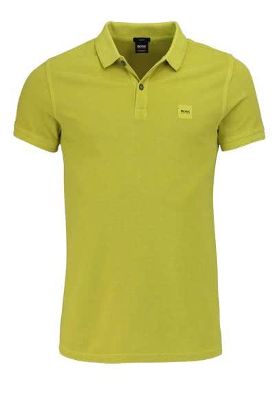 BOSS CASUAL Kurzarm Poloshirt PRIME Polokragen Slim Fit sonnengelb - Hemden Meister