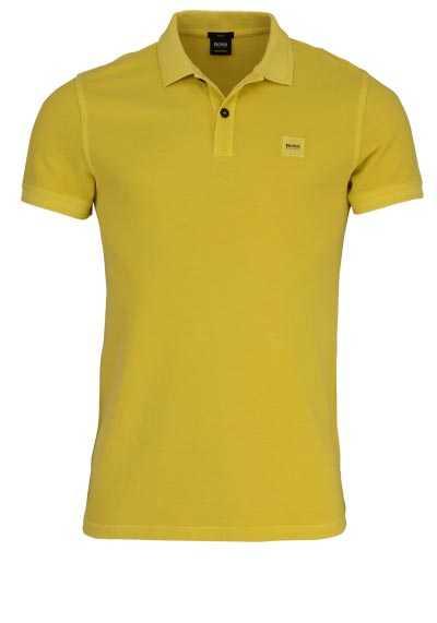BOSS Poloshirt PRIME Halbarm geknöpften Kragen Pique senfgelb - Hemden Meister