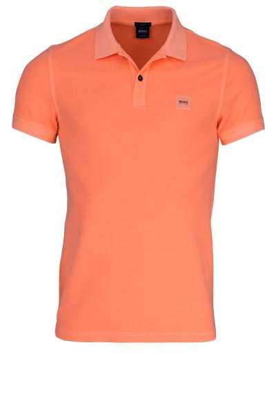 BOSS Poloshirt PRIME Halbarm geknöpften Kragen Pique lachs - Hemden Meister