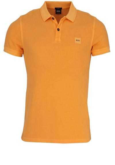 BOSS Poloshirt PRIME Halbarm geknöpften Kragen Pique manderin - Hemden Meister