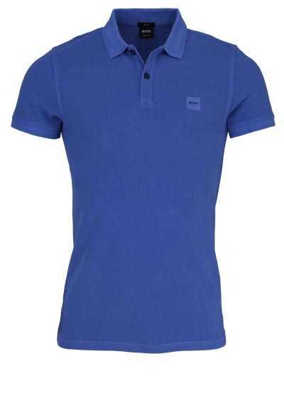 BOSS Poloshirt PRIME Halbarm geknöpften Kragen Pique wasserblau - Hemden Meister
