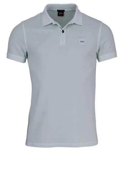 BOSS Poloshirt PRIME Halbarm geknöpften Kragen Pique mint - Hemden Meister
