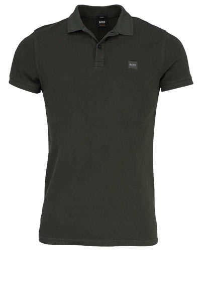 BOSS Poloshirt PRIME Halbarm geknöpften Kragen Pique oliv - Hemden Meister