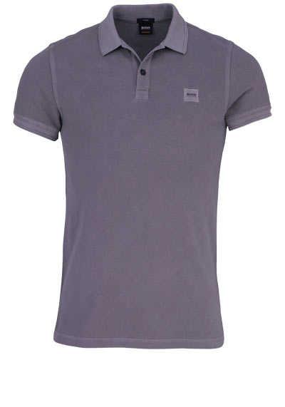 BOSS Poloshirt PRIME Halbarm geknöpften Kragen Pique grau - Hemden Meister