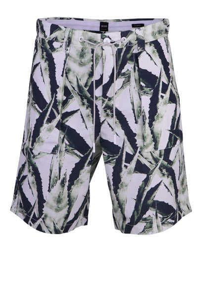 BOSS Comfort Fit Shorts SELIAN mit Taschen Muster grün - Hemden Meister