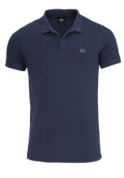 BOSS CASUAL Kurzarm Poloshirt PRIME Polokragen Slim Fit nachtblau - Hemden Meister