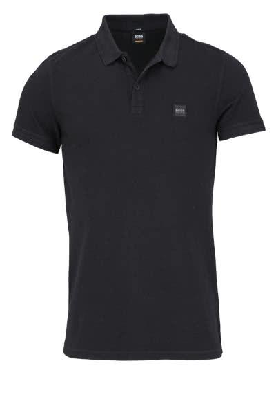 BOSS Kurzarm Poloshirt PRIME Polokragen Slim Fit schwarz - Hemden Meister