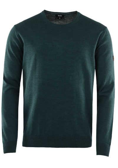 HAJO Pullover Smart Relaxx Langarm Ruckhals dunkelgrün - Hemden Meister